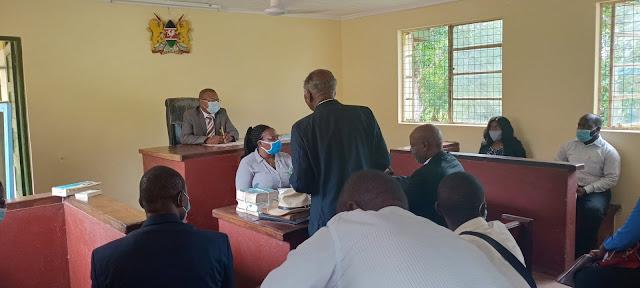 Former Machakos Senator Johnstone Muthama and Belgut MP Nelson Koech  photo in court