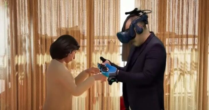 Emotivo momento en el que un hombre se reúne con su difunta esposa gracias a la RV