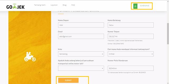 cara Daftar Gojek Online Sukabumi