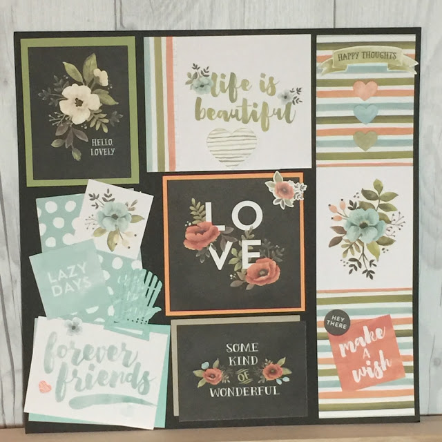 :We'll make 8 cards and a 12 X 12 art piece with Hello Lovely Project Life Collection