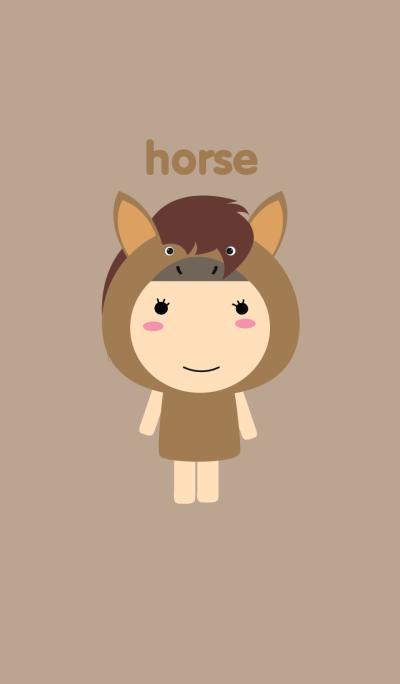 girl horse theme