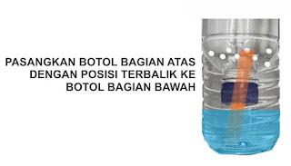 Membuat sistem hidroponik menggunakan botol