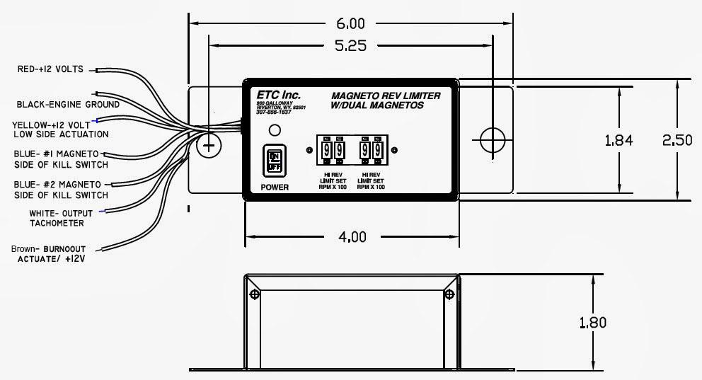 etc rev limiters dual range rev limiter 12 volt with dual magnetos rh etcrevlimiters net