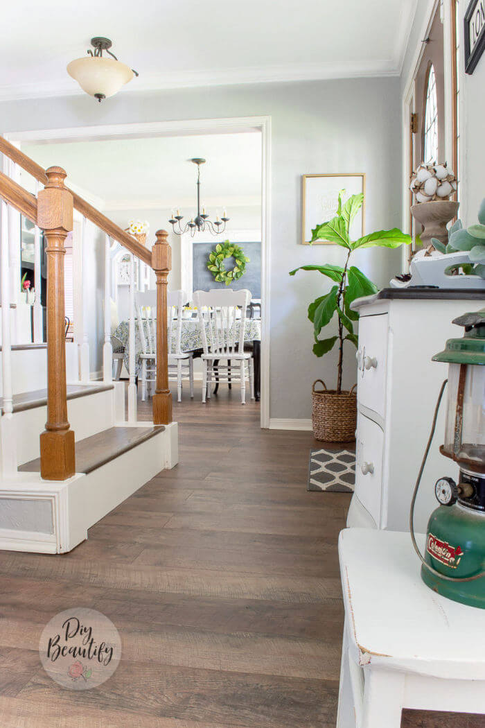 entryway with waterproof laminate floors