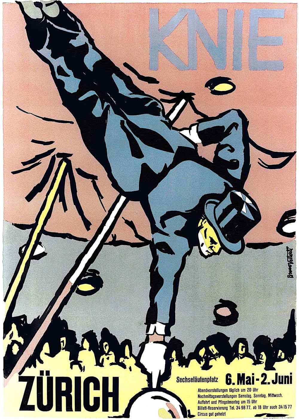 a Bruno Vetterli 1945 circus poster