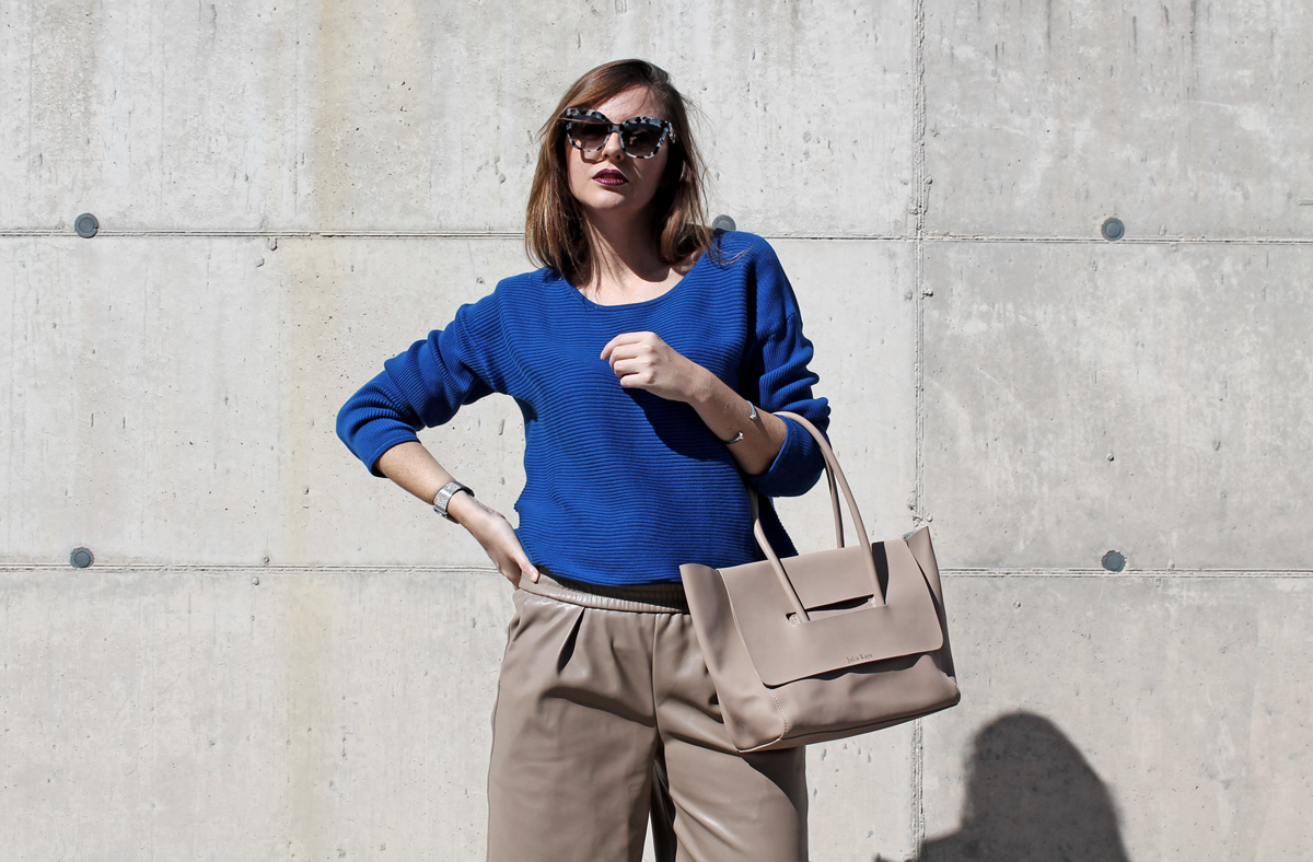 maglione blu heidi klum per lidl