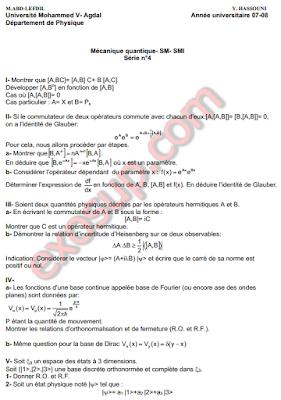 Cours+td mécanique quantique fsr