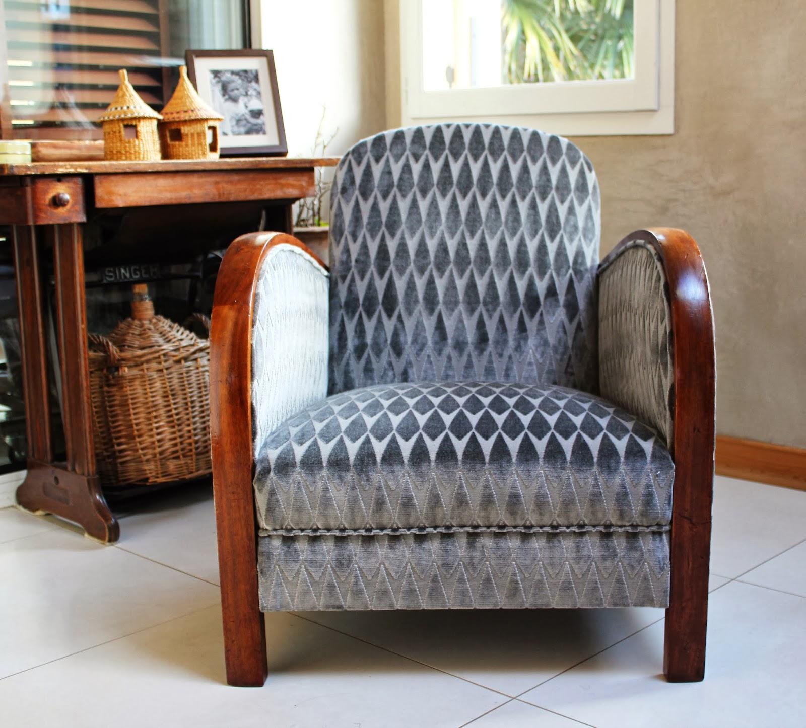 l 39 atelier de marjorie alais fauteuil art d co r fection traditionnelle assise guindage. Black Bedroom Furniture Sets. Home Design Ideas