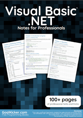 Visual basic dot net pdf book notes download for free