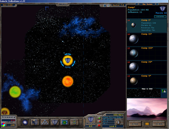 Stars and Planets | Galactic Civilizations Game Screenshot