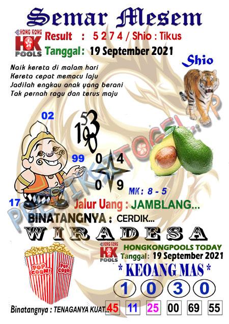 Syair Semar Mesem Togel Hongkong Minggu 19-Sep-2021