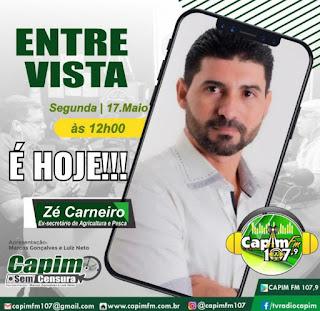 Ex-secretário de Agricultura e Pesca Zé Carneiro lamenta quebra de parcerias em Sapé