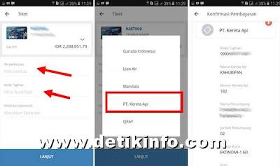 pembayaran tiket KA Online via aplikasi mandiri