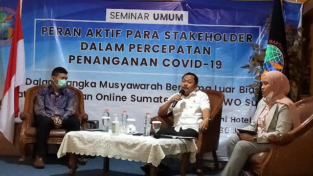 IWO Sumut Gelar Seminar Penanganan Covid-19, Gubernur sumatra Utara Beri Apresiasi