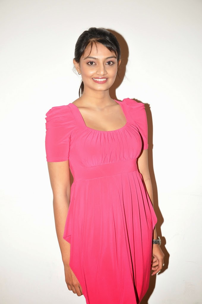 Pretty Nikitha narayan hot photos in pink dress audio release function