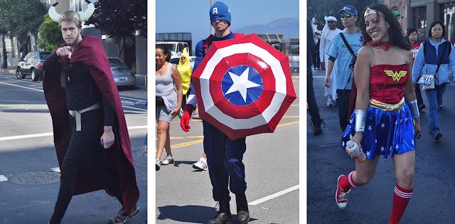super heroes Bay to Breakers San Francisco