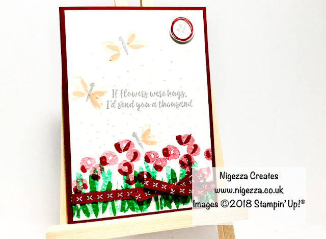 21st Birthday card: Stampin' Up!® Abstract Impression Nigezza Creates
