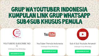 Link grup whatsapp sub for sub pemula