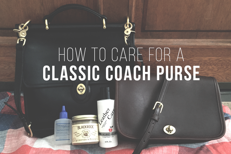 1f3cecdd48450 How to Buy Clean   Care for a Classic Coach Purse or Bag