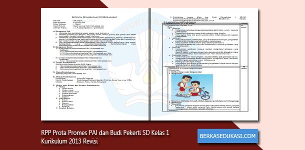 RPP Prota Promes PAI dan Budi Pekerti SD Kelas 1 Kurikulum 2013 Revisi 2019-2020