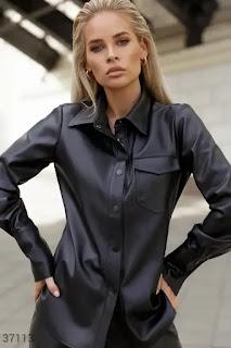 Дамска Риза от еко кожа - Twiggyshop