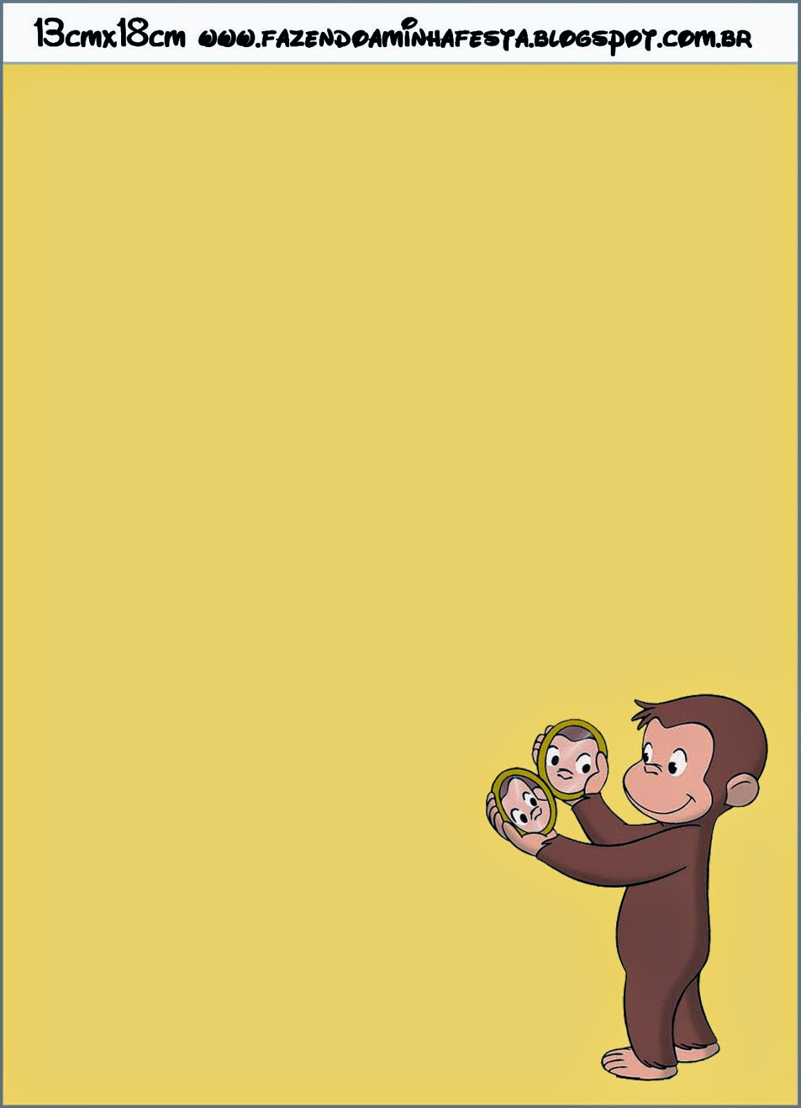 Curious George Free Printable Invitations. | Oh My Fiesta! in english