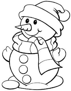 איש שלג חמוד לצביעה