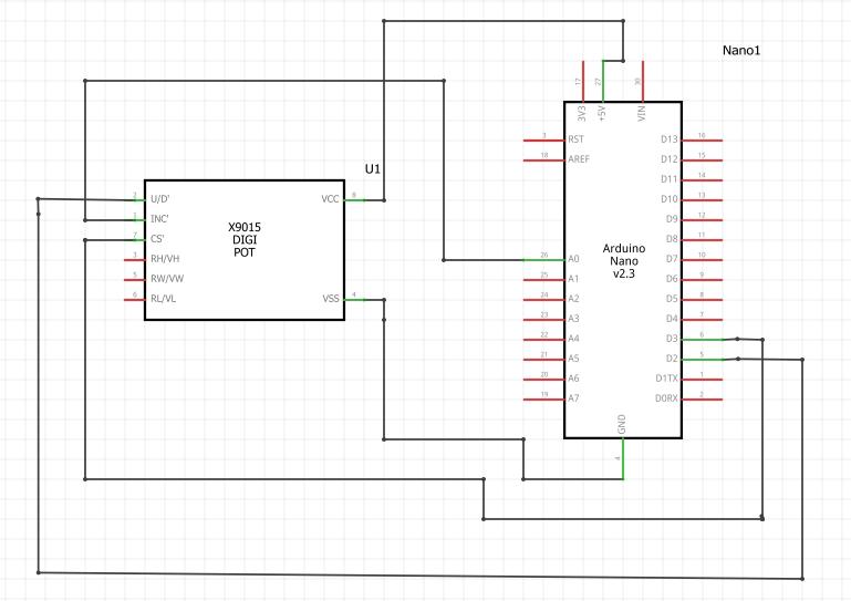 Schematic of DIGI-POT-TechnoElectronics