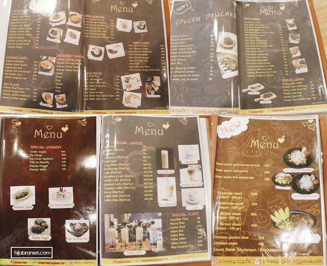 Harga Menu Love and Eat Cafe Benhil Jakarta