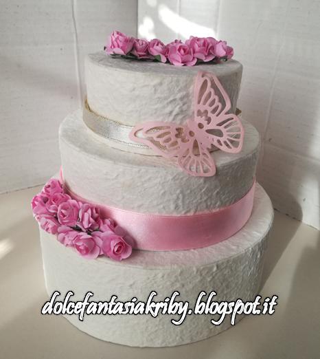torta portabuste torta finta baby shower compleanno battesimo