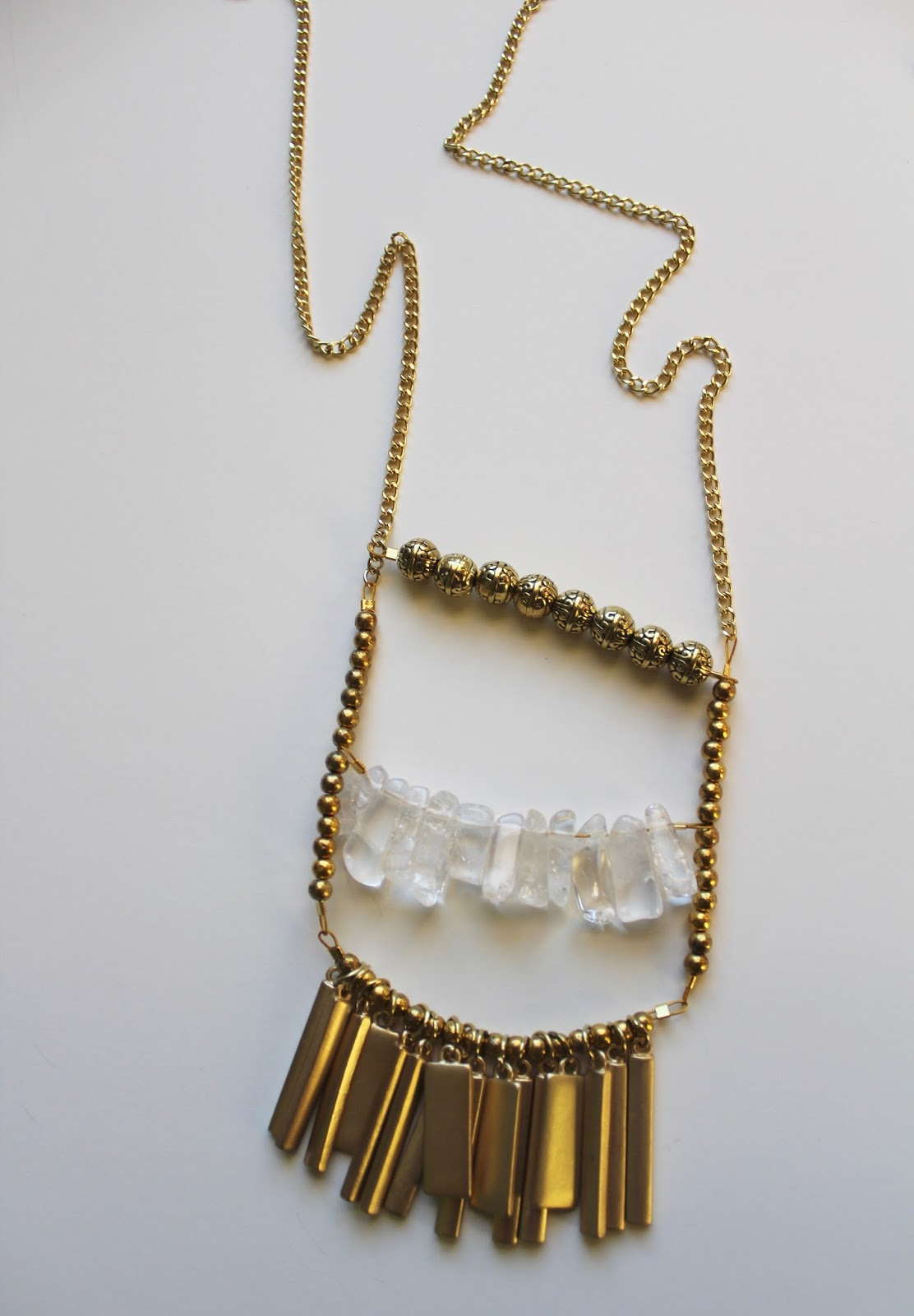 Gold pendant chain necklace diy my girlish whims add a clasp to the ends of the chain by connecting a clasp to the chain ends using jump rings baditri Choice Image