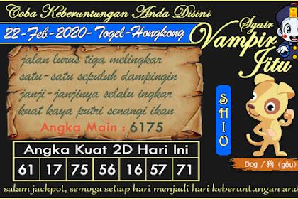 Syair Vampir Jitu Togel Hongkong Sabtu 22 Februari 2020