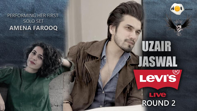 Mesmerising the audience with their music waves across Riot Studios, Amena Farooq and Uzair Jaswal made an electric performance at Levi's Live.