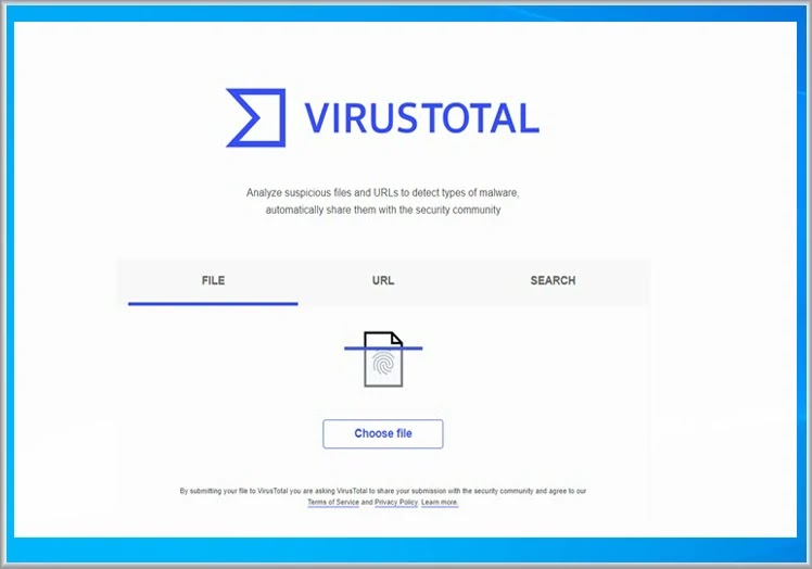 Ανάλυση κινδύνου ύποπτων αρχείων με το Virus Total