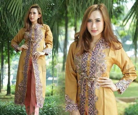 65 Model Gamis Batik Solo Modern Desain Terbaru 2019