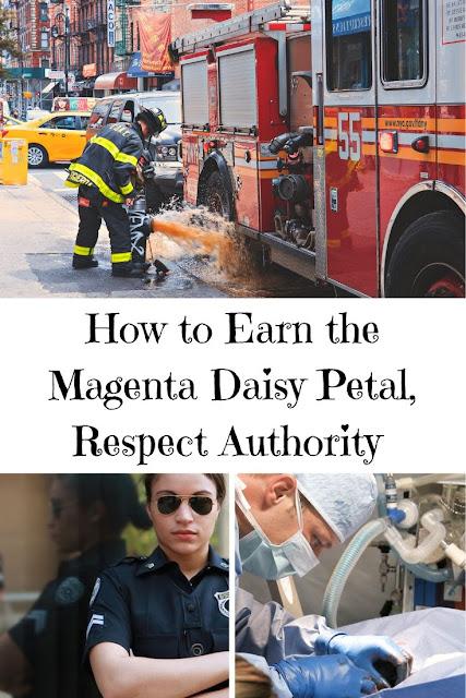 How to Earn the Magenta Daisy Petal, Respect Authority