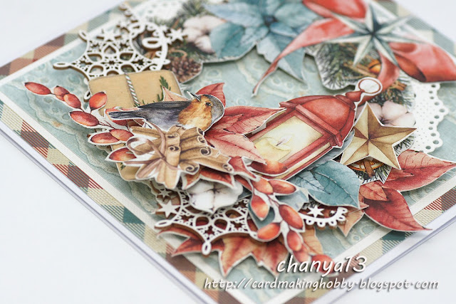 papier do scrapbookingu Home for Christmas