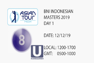Asian Tour BNI Indonesian Masters AsiaSat 5 Biss Key 12 December 2019