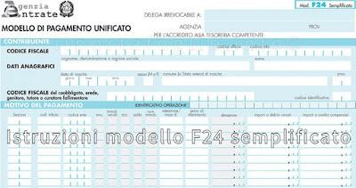 istruzioni f24 semplificato