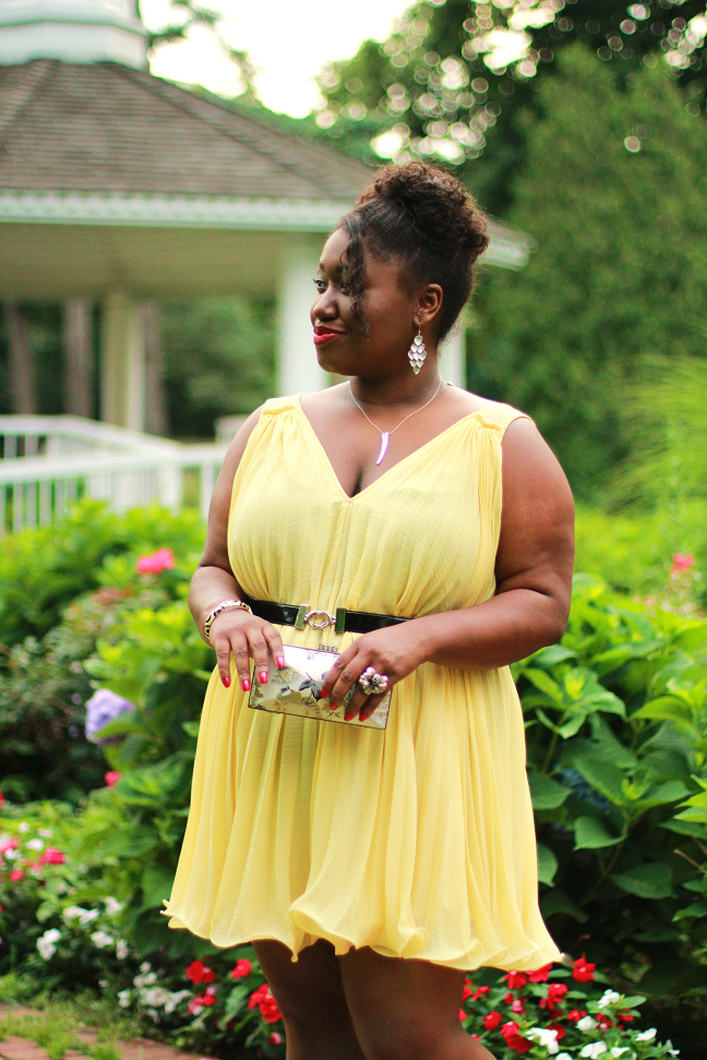 Shapely chic sheri plus size fashion and style blog for for Garden wedding dresses guest