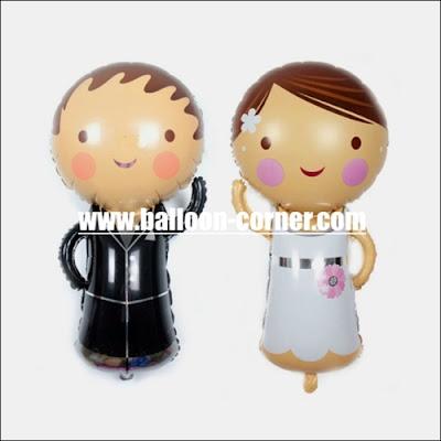Balon Foil Sepasang Pengantin Mini