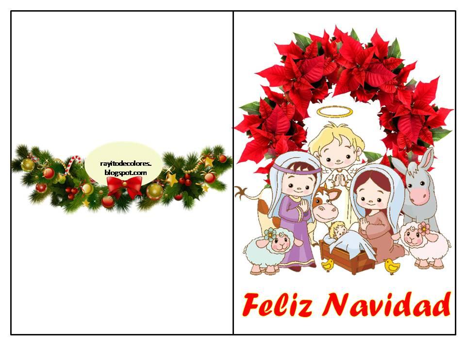 Compartiendo por amor tarjetas navidad para imprimir for Dibujos para tarjetas navidenas