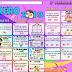 Calendario matemático 2° Segundo Grado mes de Febrero  2018-2019