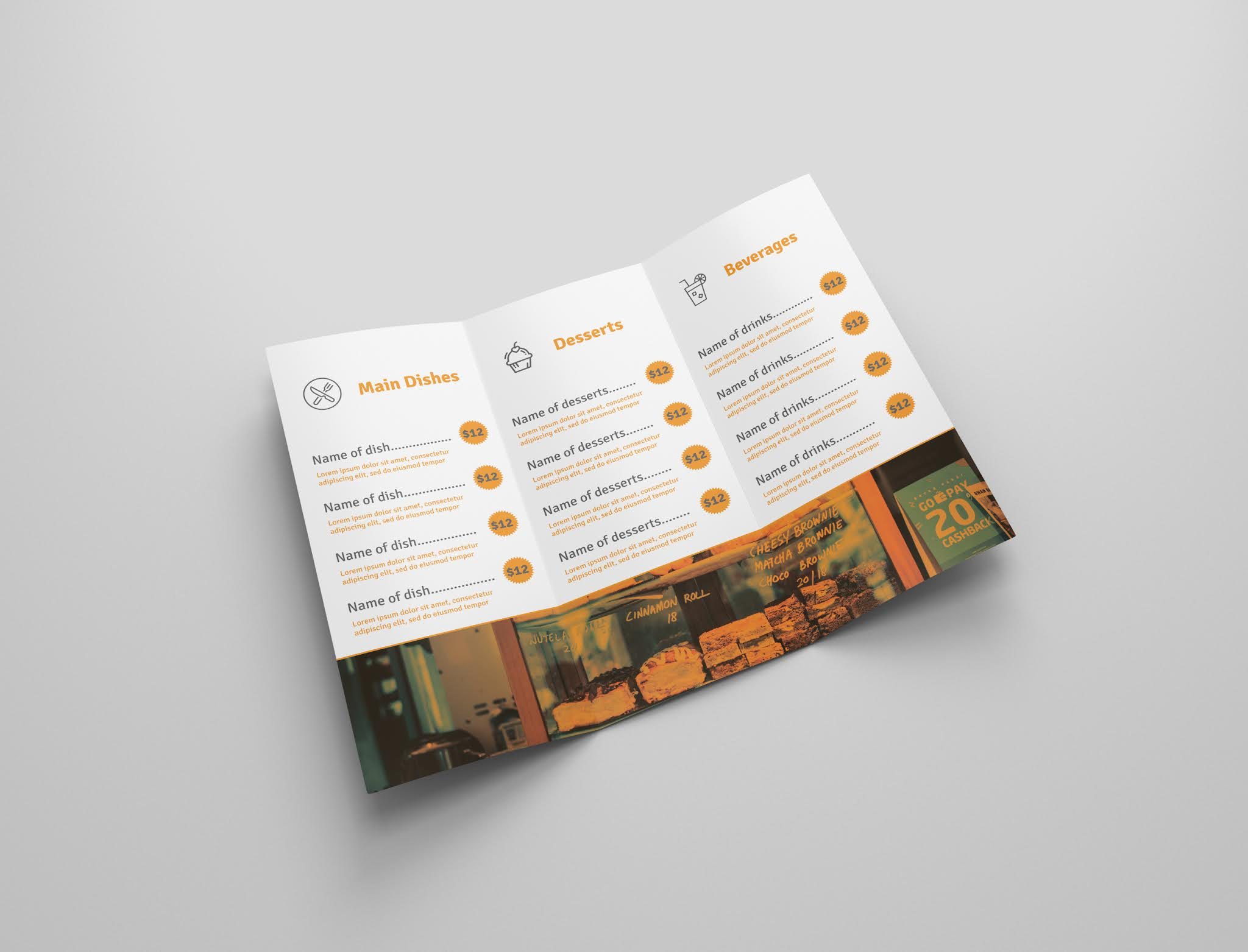 Download free restaurant brochure psd open source menu food psd free download 5