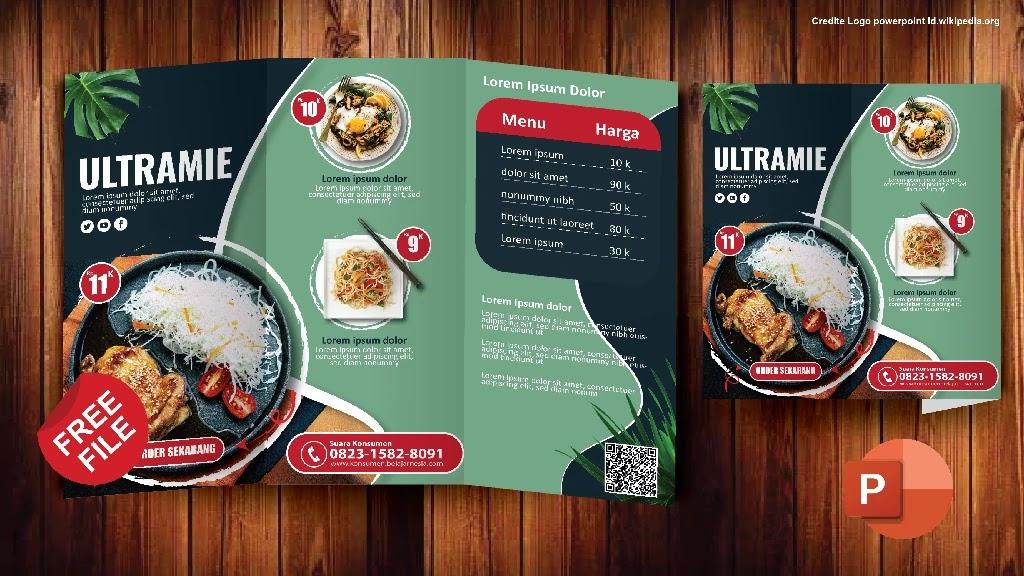 Free PPT : Kumpulan Brosur Makanan Kreatif Powerpoint Gratis