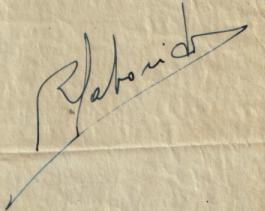 Firma de Rafael Saborido Carré