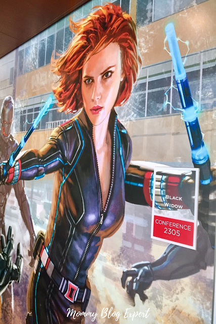 Marvel Studios Black Widow Scarlett Johannson Mural