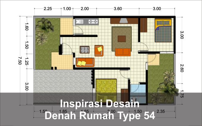 denah rumah type 54