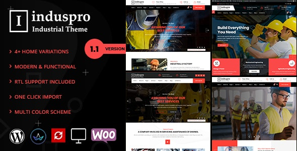 Factory and Industrial Premium WordPress Theme