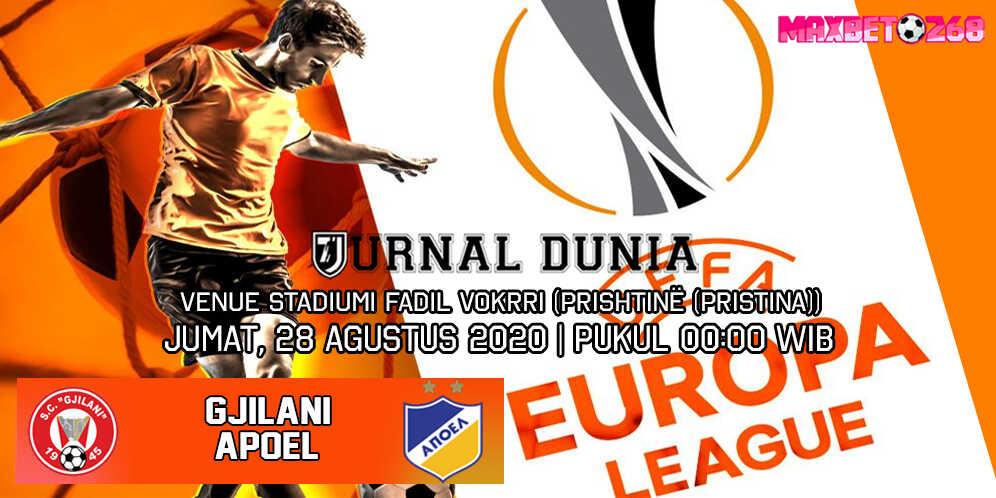 Prediksi Gjilani vs APOEL Nicosia 28 Agustus 2020 Pukul 00:00 WIB